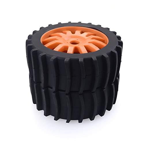 CHOULI 2 STÜCKE RC Auto Schnee Sand Paddel Reifen für Redcat Team Losi VRX Kyosho 1/8 Buggy Orange (Felgen Paddel-reifen Und)