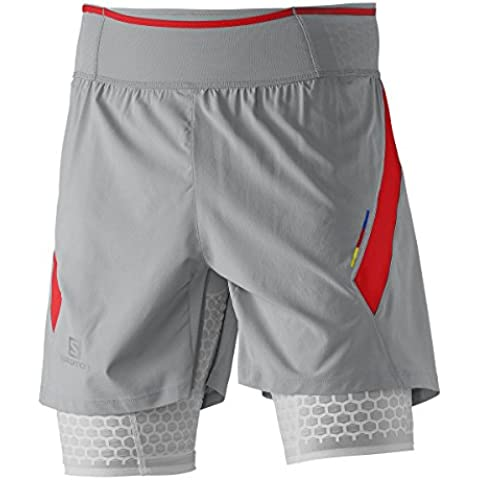 Salomon Exo S-LAB da uomo ACTIVE Pantaloncini, Uomo, New Aluminium Racing Red White, XS