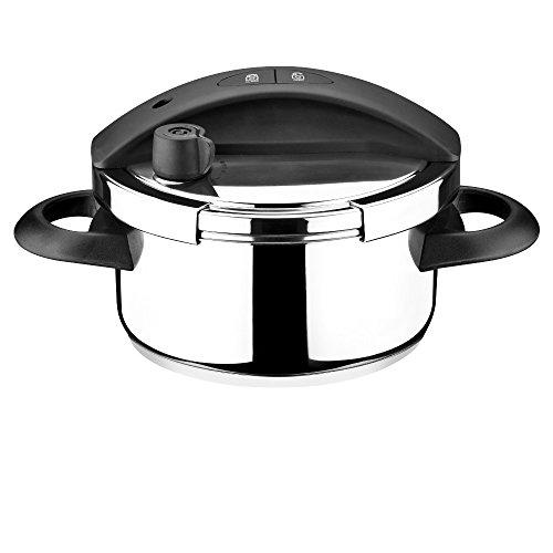 3-tlg Einhand Schnellkochtopf- Set RUBY 3,0 L Drucktopf Dampfgartopf Dampfgarer