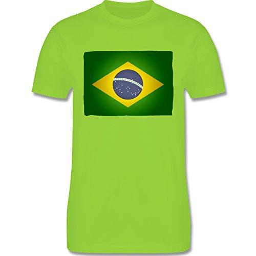 Länder - Flagge Brasilien - Herren Premium T-Shirt Hellgrün