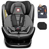 Auto-Kindersitz LIONELO BASTIAAN ISOFIX 0-36 kg 360° Grey-Black 360° + Organizer