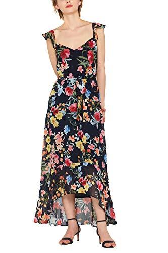 ESPRIT Collection Damen 049EO1E042 Kleid, Blau (Navy 400), Herstellergröße: 44 -