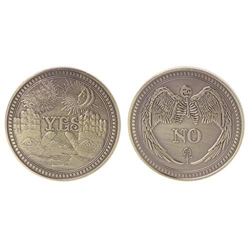 Xiangrun Bronze Ja Nein Gedenkmünze Souvenir Challenge Sammelmünzen Sammlung Kunsthandwerk Geschenk -