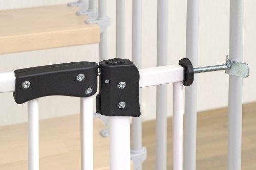 Impag® Treppenschutzgitter 73 – 142 cm für einseitiges Geländer 2 Y-Adapter zum Klemmen ohne Bohren Swing + 10 - 3