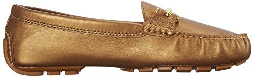 Lauren Ralph Lauren Caliana Slip-on Mocassins Vintage Gold Pearlized Nappa