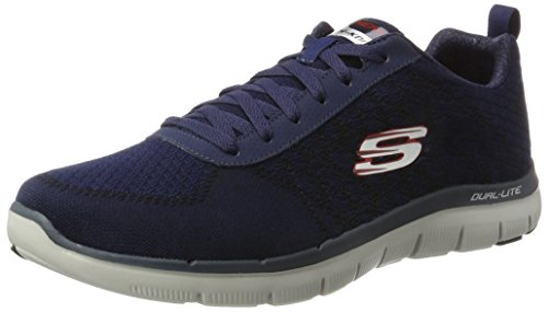 Skechers Herren Flex Advantage 2.0 Golden Point Sneakers, Blau (NVRD), 47.5 EU