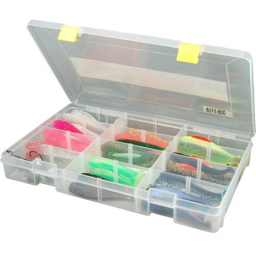 Spro Tackle Box 35x22x5cm - Tacklebox für Gummiköder & Wobbler, Angelbox für Gummifische & Blinker, Kunstköderbox, Köderbox