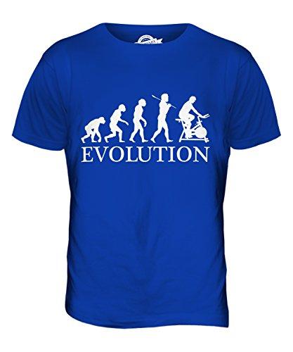 CandyMix Fahrradergometer Evolution Des Menschen Herren T Shirt Königsblau