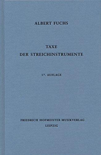 Taxe der Streichinstrumente
