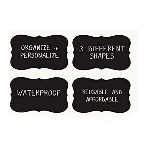 Chalkboard Stickers Craft Kitchen Jar Etiquettes Tags Contact Paper-36pcs