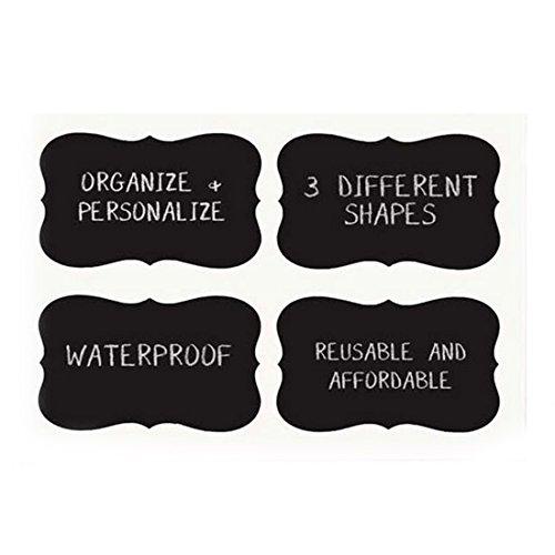 36pcs-chalkboard-blackboard-stickers-craft-kitchen-jar-labels-tags-contact-paper