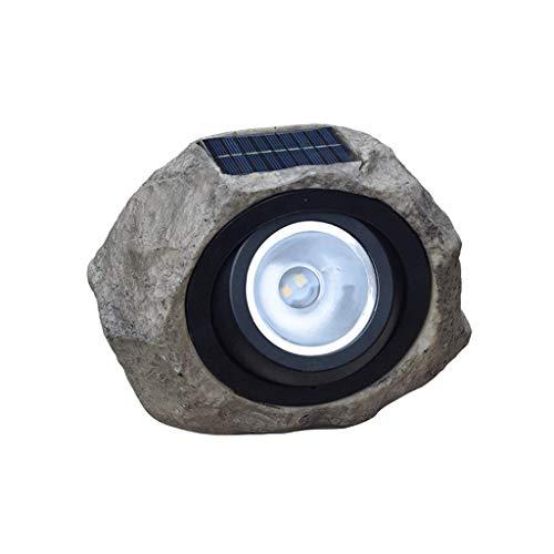 Faeio simulazione solare stone light lampada da giardino a led in resina faretto per esterno decorativo da giardino impermeabile 20 × 17 × 13 cm