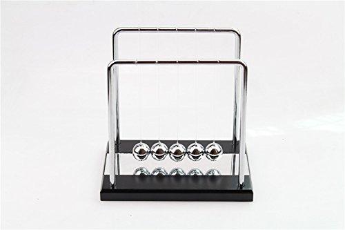 PROW® Schwarz Gespiegelt Base Metall Bälle Edelstahl Rahmen Newton Cradle Balance Bälle Physik Pendel Wissenschaft Schreibtisch Büro Classic Spielzeug