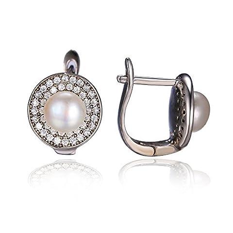 Jewelrypalace 4ct Süßwasser Perle Damen Einzigartige Elegant Ohrklipp Ohrklemme Ohrring