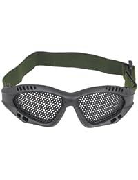 TRIXES tactique Airsoft Protection des yeux Lunettes No Fog Metal Mesh Lunettes