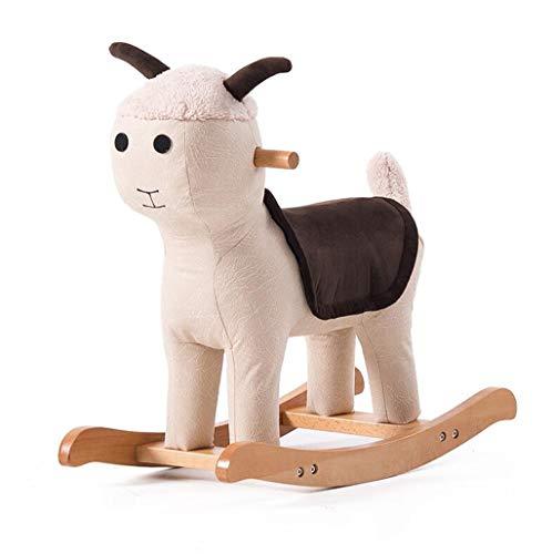 Puff Schaukelstuhl (Home-life Kinder schaukelpferd aus Holz Tier hocker Baby hocker Spielzeug Trojan niedlich schaukelstuhl kleine Bank (größe : C))