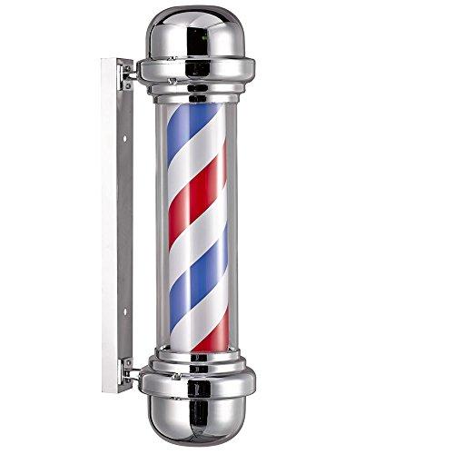 Rotulowcost Poteau de barbier professionnel, sans sphère lumineuse, pour salon de coiffure, 23 x 68 cm