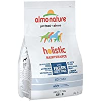 Almo Nature holistic dog adult small mangime secco per cani gusto pesce azzurro e riso kg. 2