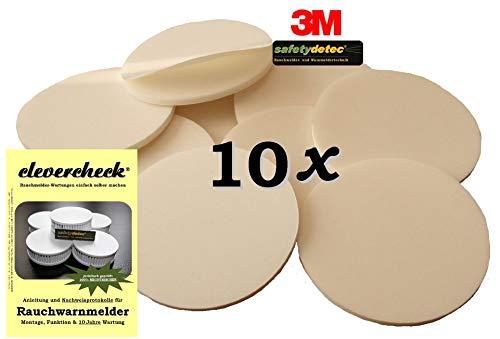 10 x safetydetec Rauchmelder Klebepads + 1 x clevercheck GRATIS (Aktion!)