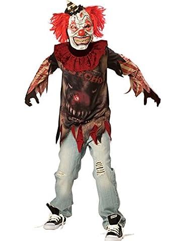 Kinder und Teen Horror Sideshow Killer Clown Kostüm Large (10-12