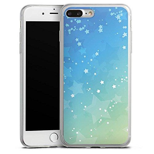Apple iPhone X Slim Case Silikon Hülle Schutzhülle Sternchen Sterne Muster Silikon Slim Case transparent
