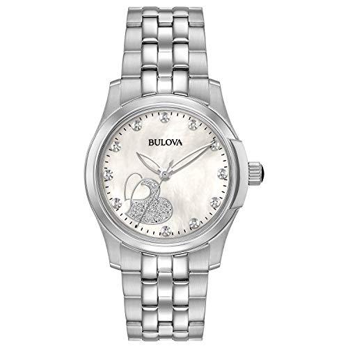 Bulova à quartz pour femme en acier inoxydable décontracté montre, couleur: Les LED Offrent (modèle: 96p182)