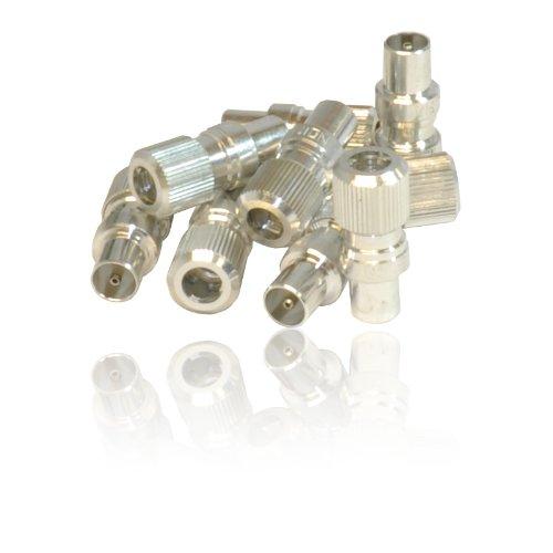 CDL Micro Stecker/Koaxial-TV Koax-Antennen-Anschluss-Stecker für RF-Kabel/Freeview (10Stück) (Ariel-anschluss Tv)