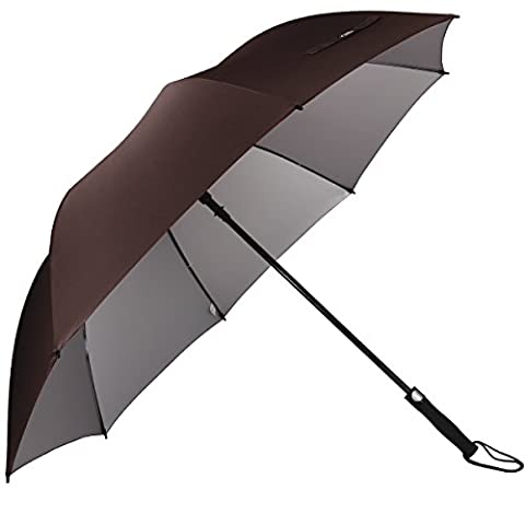 G4Free 62 Inch Golf Umbrella Silver Coating Large Canopy Windproof Waterproof Automatic Open Sun Protection Stick Umbrellas for Men and Women