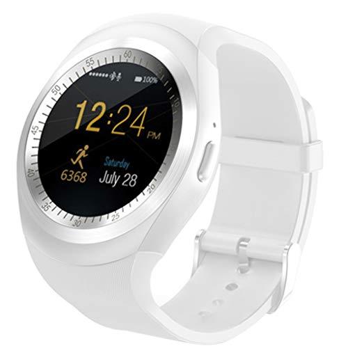 Haludock Quad-Band Aufruf Y1 Smart Watch Bluetooth Phone Mate runden Bildschirm Schrittzähler Remote Fotos Sport-Modus für iOS Android-Handy viel Quad-remote