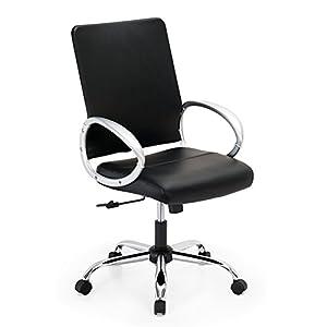 41sbWrEiyLL. SS300  - IntimaTe-WM-Heart-Silla-de-Oficina-Moderna-Silln-Giratorio-de-Escritorio-de-Ordenador-Respaldo-a-Media-Altura-Altura-Ajustable-con-Reposabrazos-para-Oficina-en-Hogar-PVC-Negro