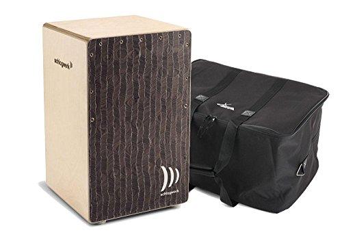 "Schlagwerk CP 580 Cajon Super Agile""Silver Lining"" SET inkl. Tasche (Trommelkiste, Percussion, Kistentrommel, Material: Birke, inkl. Gigbag)"