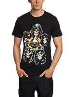 Guns N Roses Men's Vintage Heads Short Sleeve T-Shirt