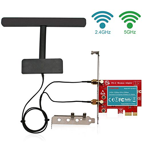 LTERIVER 802 11 AC 600Mbps 2 4GHz 5GHz Dual Band PCI Express (PCIe)  Wireless Adapter-PCIe WiFi Card-PCIE Wireless Card-PCIe Wi-Fi  Adapter-Qualcomm