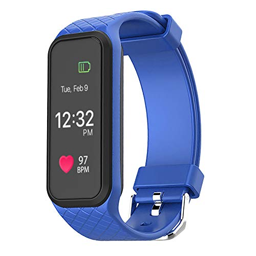 Yallylunn L38I Bluetooth 4.0 Color Led Heart Rate Sport Smart Wrist Watch Bracelet Bleib Stabil Edle Textur Einteilige Schnalle Anti Fall