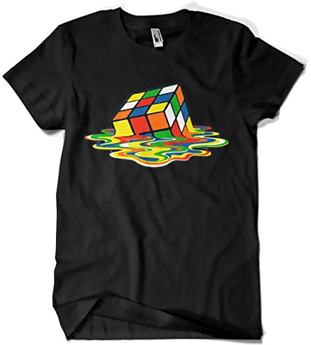 1508-Camiseta Solfstyle, Magic Cube (L, Negro)