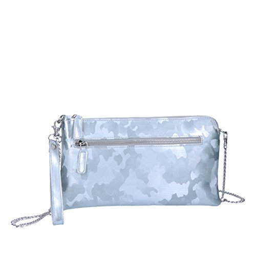 Bright - Costanza - Borsa In Ecopelle Made In Italy - Borsa argento