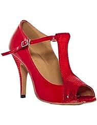Minitoo femme Serpent à talon écoles de danse latine chaussures