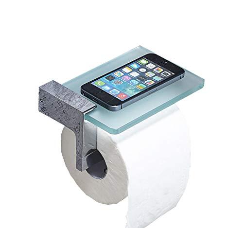 Toilettenpapierhalter Hotel Badezimmer Rollen Seidenpapier Halter Kupfer Mit Glas Regal In Chrom Poliert -