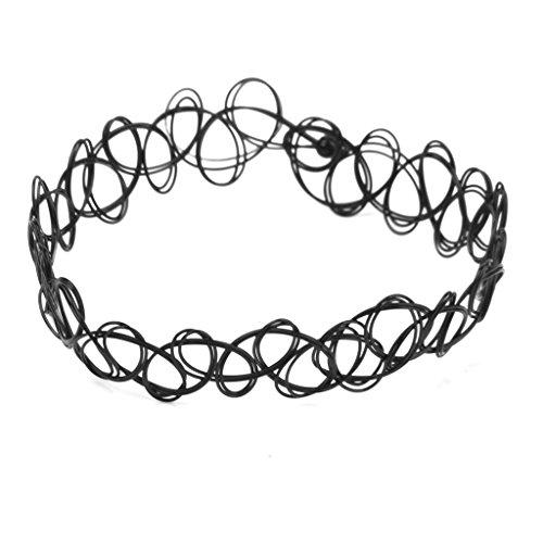 SODIAL(R) Vintage Taetowierung schwarzes elastisches Ausdehnung Fusskettchen Knoechel Armband Retro- Hennastrauch (Huhn-armband)