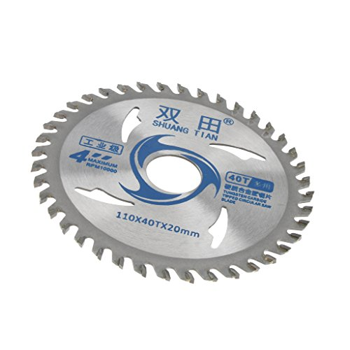 F Fityle 105mm 40ATB Kreissägeblatt Kreissägen Blatt aus hochwertigem gehärtetem Aluminium zum Sägen in Holz für Tischkreissägen