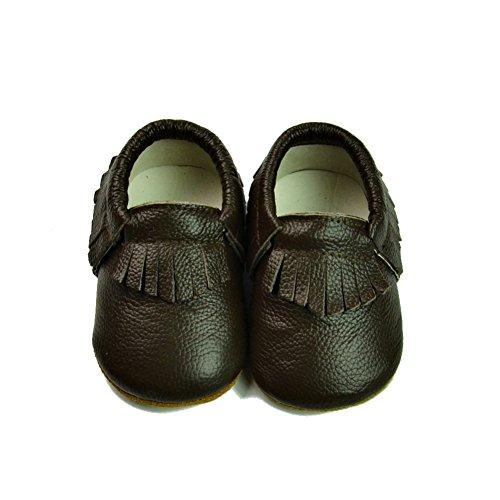 Fire Frog  Baby Genuine Leather Shoes, Baby Jungen Lauflernschuhe Braun