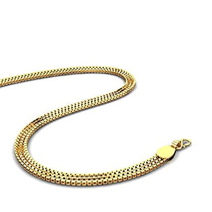 Candere By Kalyan Jewellers Contemporary Collection 22k Yellow Gold Highway Chain Necklace for Men