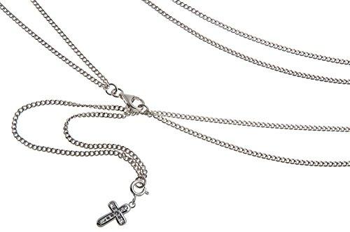 Ventre Chaîne, Maillot (Char) avec croix-Longueur Au Choix-65-110cm-Argent 925
