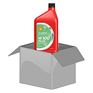 AeroShell Oil W100 PLUS - Karton (12 x 1 AQ Flaschen, US-Quart)