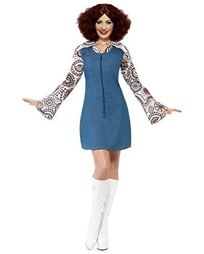 70er Jahre Groovy Girl Kostüm S (Girl Jahre Kostüm 70er Groovy)