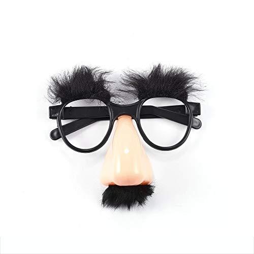 Hot1Pcs Gefälschte Nase Augenbraue Schnurrbart Clown Kostüm Requisiten Spaß Mitbringsel Gläser WholesaleNew Heißer Verkauf