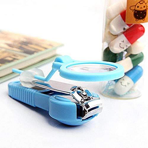 SAOJI 1 stück ältere Kinder Tasche Finger Toe Nagelknipser Cutter mit Lupe Trimmer Maniküre Pediküre Pflege Schere Werkzeuge - Finger-nagelknipser Großes