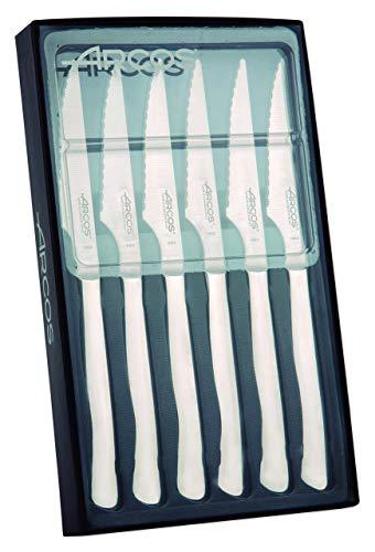 Arcos 378000 - Juego de cuchillos chuleteros, 100 mm (6pzs)