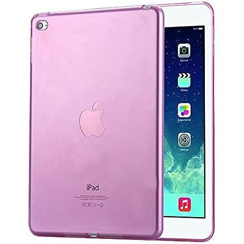 FAS1 iPad Air 1 Funda, Nueva Transparente Suave TPU Silicona Carcasa Trasera Protector Para Apple iPad Air 1/iPad 5 (Rosa)