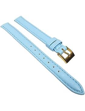 Miami Ersatzband Uhrenarmband Kalbnappa Band Hellblau 22559G, Stegbreite:13mm